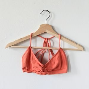 🌵 Free People Strappy Back Bra Coral